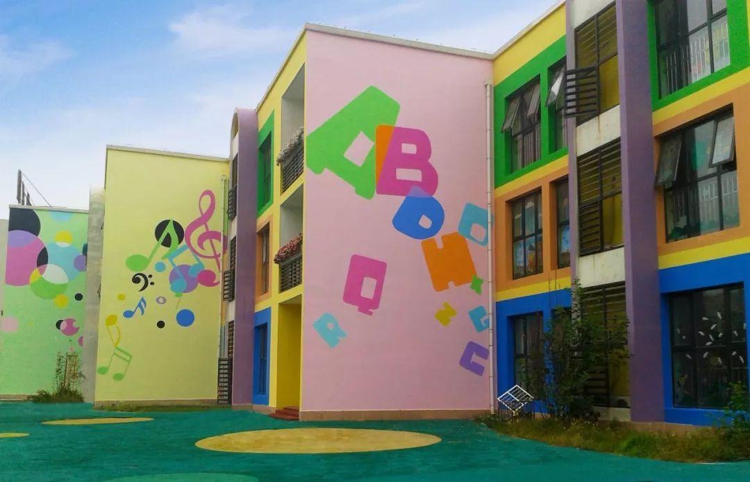 幼儿园彩绘墙画,彩绘墙画,涂鸦墙幼儿园,户外墙体喷绘广告