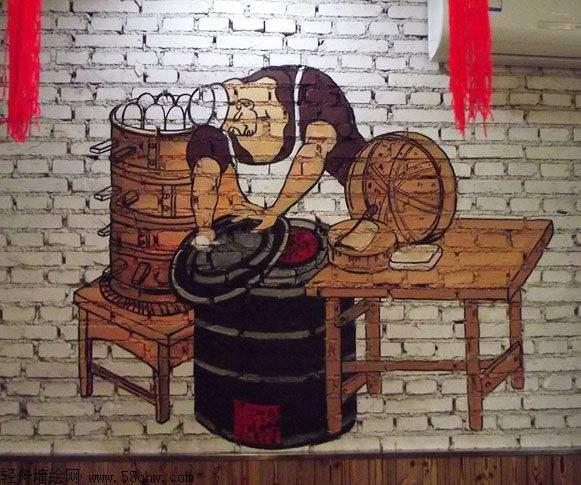 手绘装饰画,涂鸦墙绘,古建彩绘,幼儿园手绘墙画